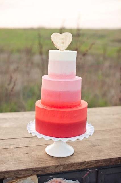 Ombre Wedding Cakes Lavender Lace